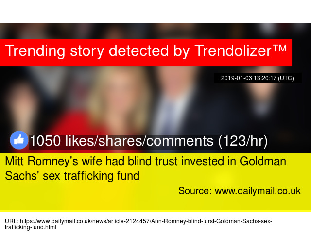 Mitt Romney S Wife Had Blind Trust Invested In Goldman Sachs Sex